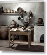 Roman Kitchen, 100 A.d Metal Print