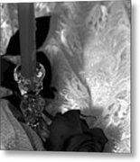 Romantic Black And White Metal Print
