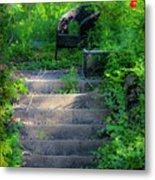 Romantic Garden Scene Metal Print by Teresa Mucha