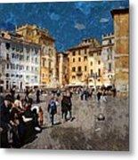 Rome - Piazza Della Rotunda Metal Print by Jen White