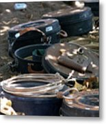 Rope Cans.. Metal Print