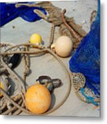 Ropes Nets And Bouys Metal Print