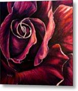 Rose Violet Metal Print
