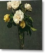 Roses In A Champagne Flute Metal Print