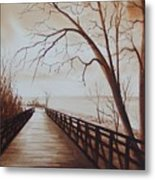 Rotary Bridge Metal Print