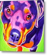 Rottweiler - Summer Puppy Love Metal Print