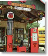 Route 66 - Shea's Gas Station Metal Print