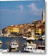 Rovinj Harbour Metal Print