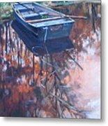Rowboat Ashore Metal Print