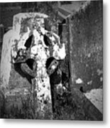 Rugged Cross At Fuerty Cemetery Roscommon Ireland Metal Print