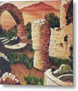 Ruins In Cumae Italy Metal Print