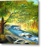 Running Waters Metal Print
