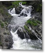 Rushing Waterfalls Metal Print