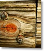 Rustic Wood Metal Print