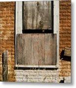 Rusty Building Metal Print