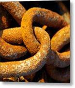 Rusty Chain Metal Print by Carlos Caetano