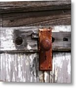 Rusty Entry Metal Print