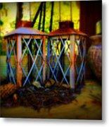 Rusty Lanterns   Metal Print