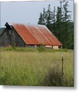 Rusty Roofed Barn    Washington State Metal Print