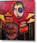 Ryan Macmillan And His Drums Metal Print