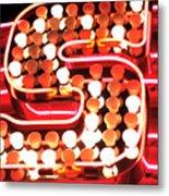 S In Lights Metal Print