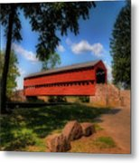 Sach's Covered Bridge Metal Print by Lois Bryan
