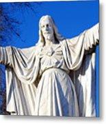 Sacred Heart Statue Metal Print