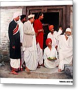 Sai With Dengle Patil At Nimgaon Metal Print