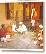 Saibaba Serves Food To Village People Metal Print
