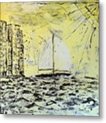 Sail And Sunrays Metal Print