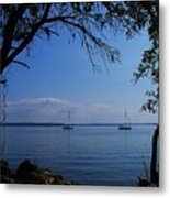 Sail Boats On The Bay Metal Print