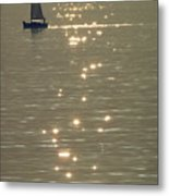 Sailboat At Catalina Metal Print