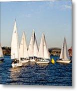 Sailboat Racing Metal Print