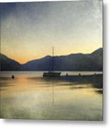 Sailing Boat In The Sunset Metal Print by Joana Kruse