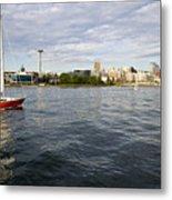 Sailing Downtown Metal Print