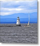 Sailing In To Open Waters Metal Print