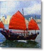Sailing On The East Metal Print