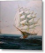 Sailing Ships The Beauty Of The Sea Metal Print