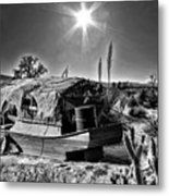 Sailing The Desert Metal Print