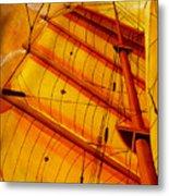 Sailing Through Gold Metal Print