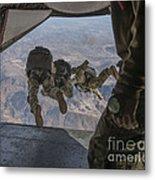 Sailors Jump Out Of A C2-a Greyhound Metal Print