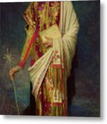Saint Margaret Slaying The Dragon Metal Print