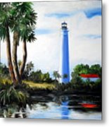 Saint Marks River Light House Metal Print