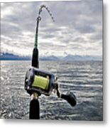 Salmon Fishing Rod Metal Print by Darcy Michaelchuk
