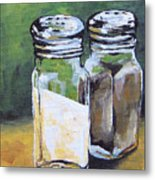 Salt And Pepper I Metal Print