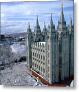 Salt Lake City Lds Temple Metal Print