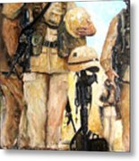 Saluting The Fallen Metal Print