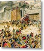 Samaria Falling To The Assyrians Metal Print