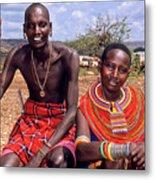 Samburu Couple Metal Print