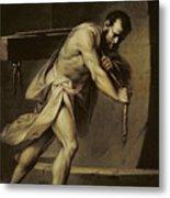 Samson In The Treadmill Metal Print